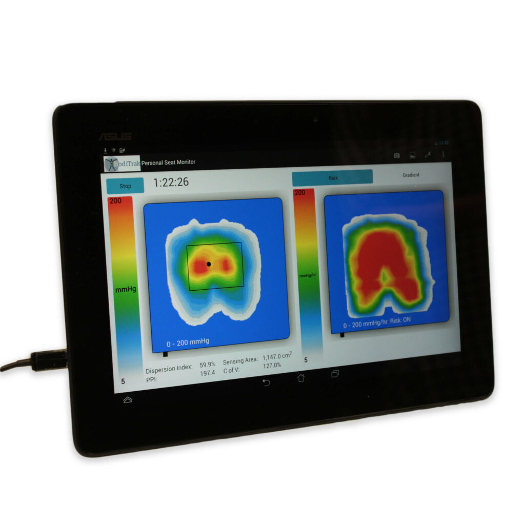 Tablet of Pressure Mapping Scan