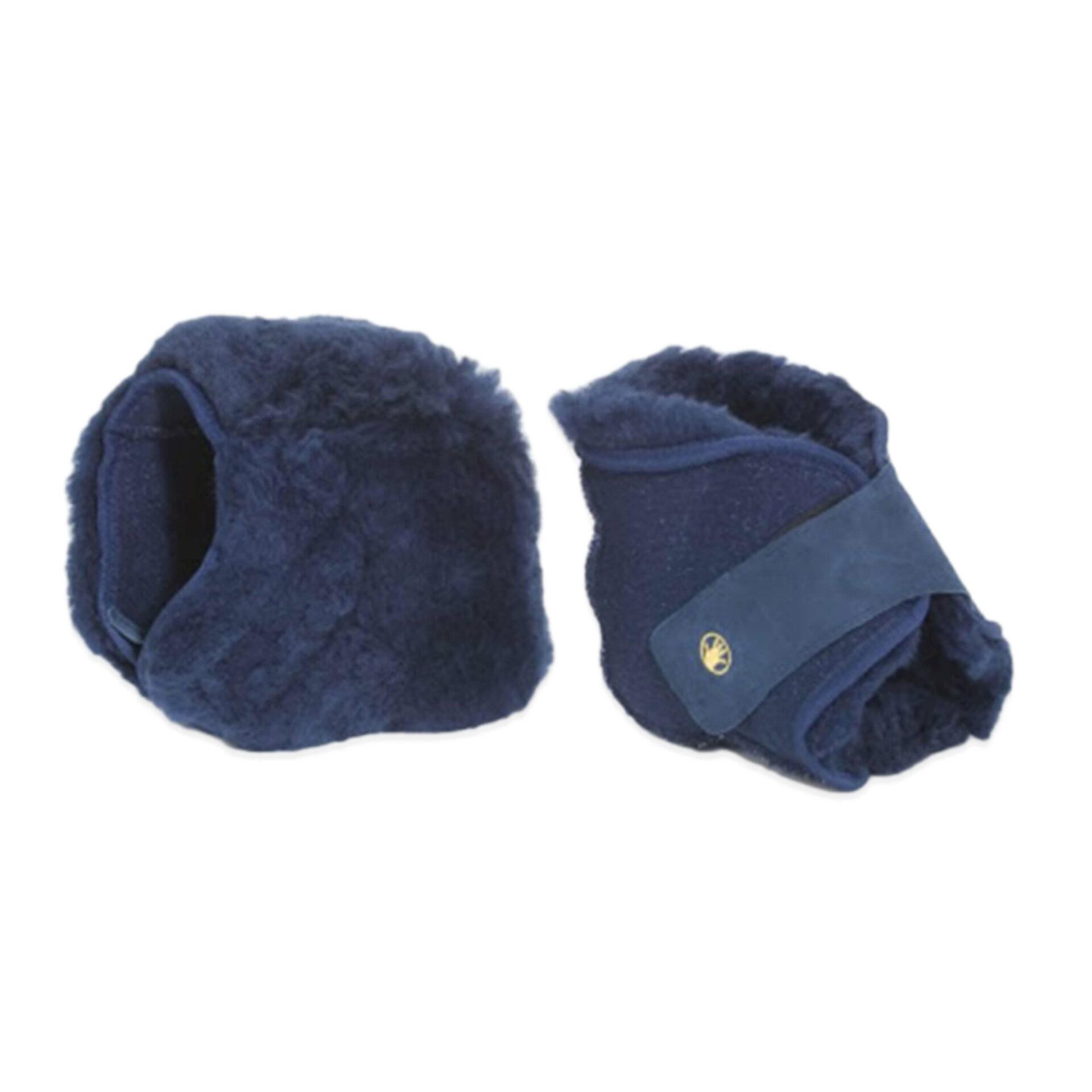 Blue Medical Sheepskin Heel Protectors