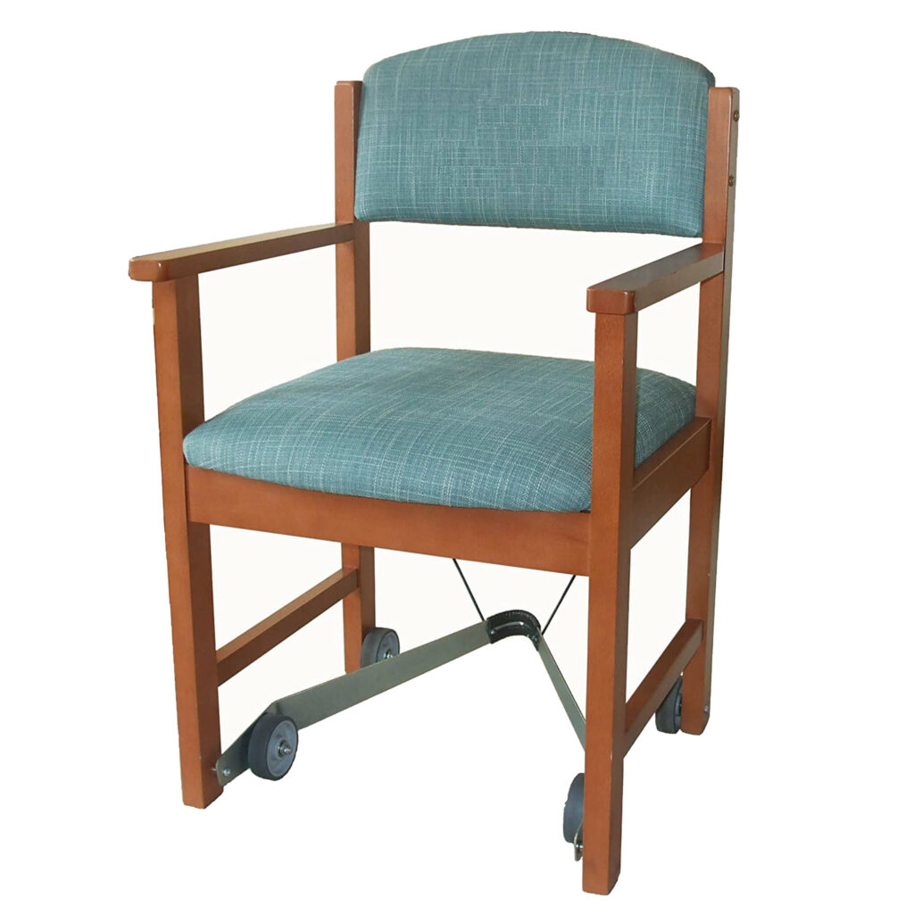 Millie-Mova on dinning room chair