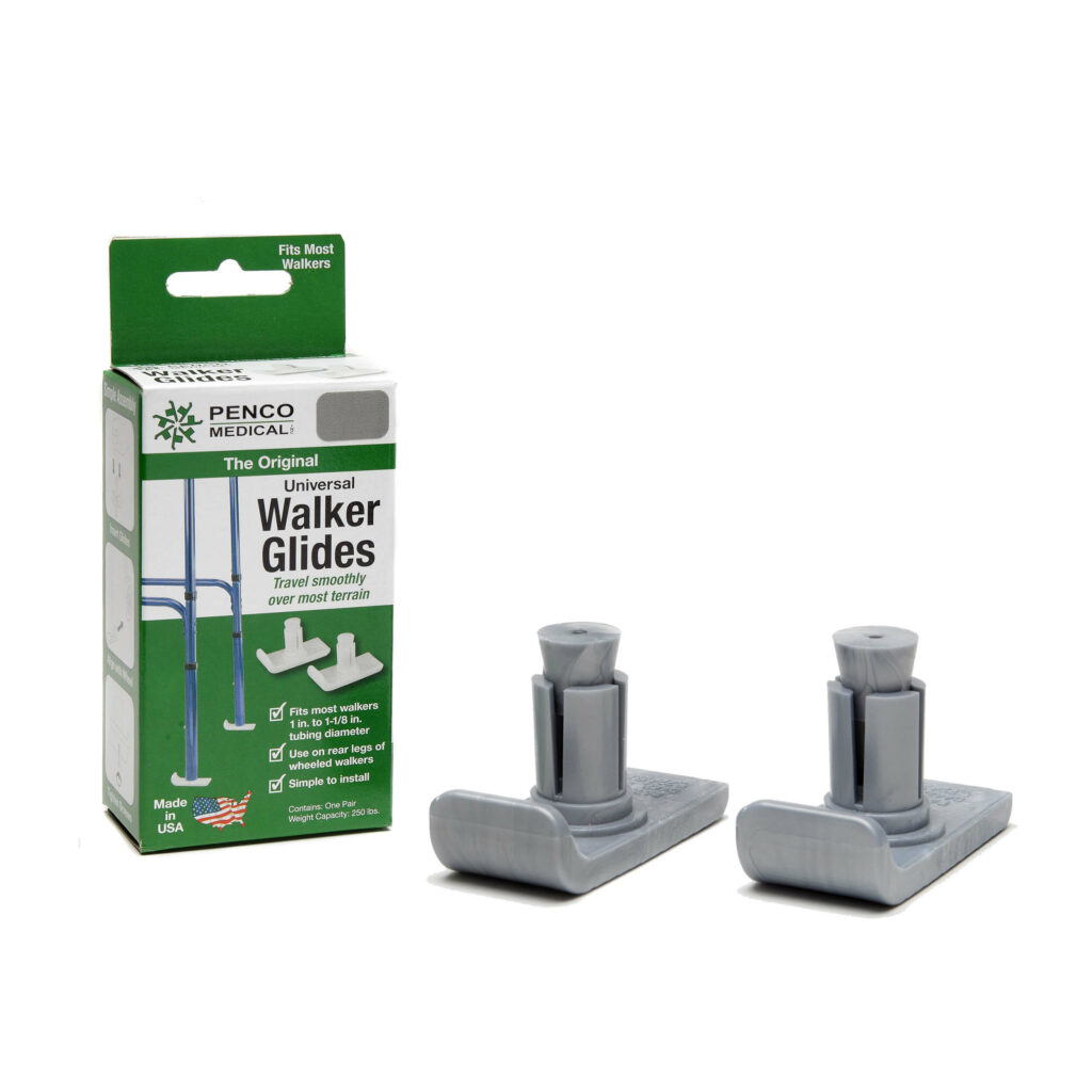 Glides for walking frame with packaging