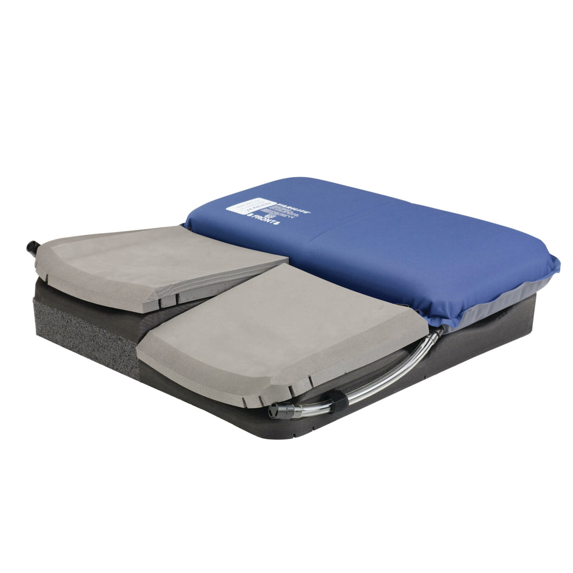 wheelchair Cushion with medial thigh separater and anterior laterals