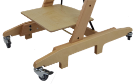 Paediatric High Chair with Skis with Castors